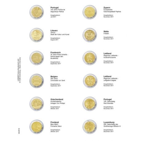 Break into leaf for coins 2 € commemorative: January 2017 - July 2017