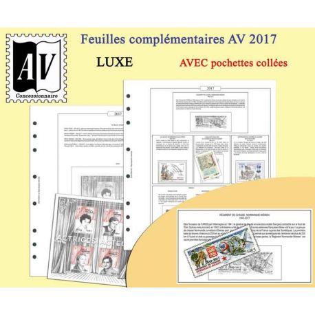 2016-2017 album enciclopedico dei francobolli della Francia lusso