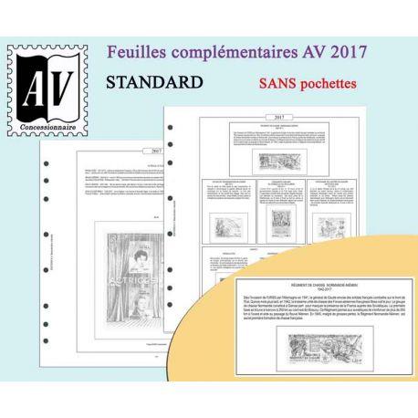2016-2017 enzyklopädisches Album von den Standardstempeln von Frankreich