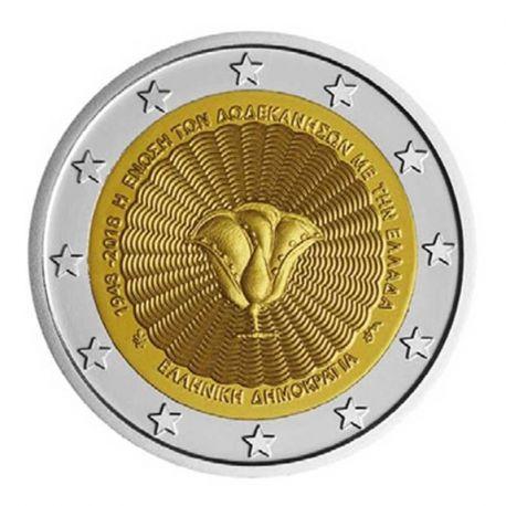 Grèce 2018 - Pièce 2 Euro commémorative Dodécanèse