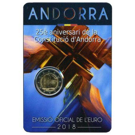 Andorre - 2 euro 2018 - 25 ans de la constitution