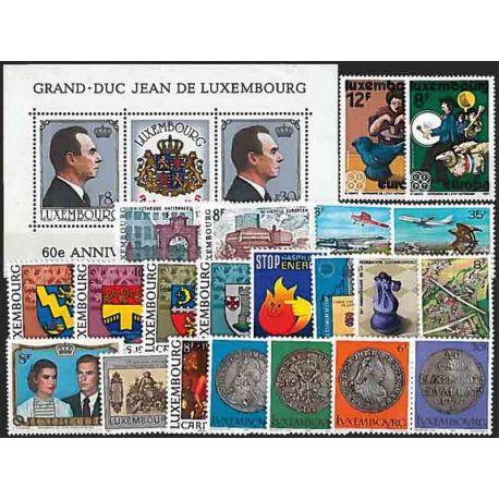 Francobolli nuovi Lussemburgo 1981 in anno completo