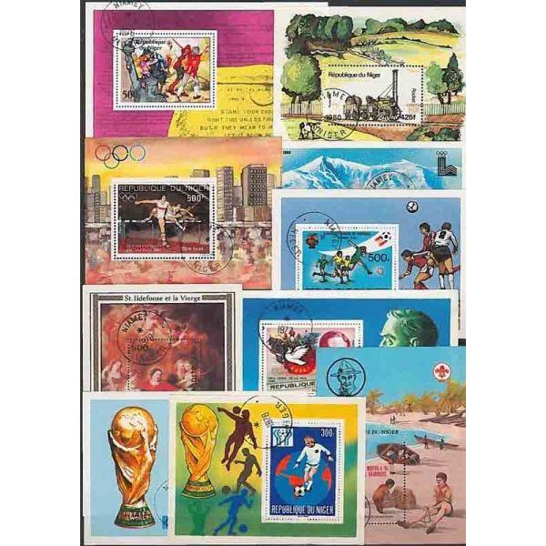 Collection-de-timbres-Niger-obliteres miniature 9