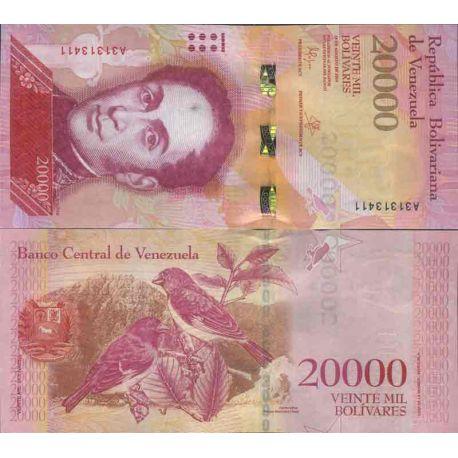 Billet de banque collection Venezuela - PK N° 99 - 20 000 Bolivares