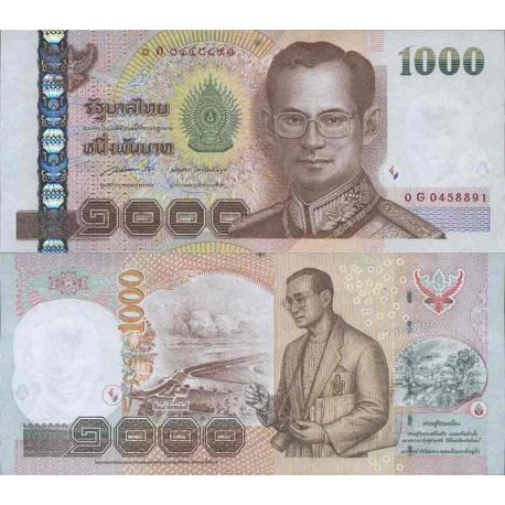 Billet de banque collection Thailande - PK N° 108 - 1 000 Baht