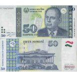 Banknotensammlung Tadschikistan - PK N ° 26B - 50 Dirams