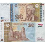 Banknotensammlung Tadschikistan - PK N ° 25 - 20 Dirams