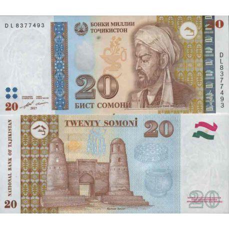 Colección de billetes Tayikistán - PK N ° 25 - 20 Dirams
