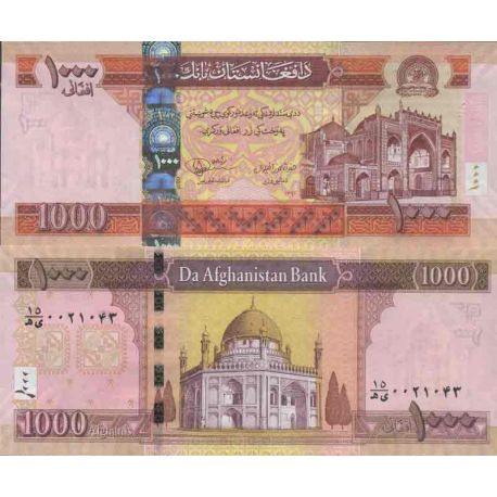Billet de banque collection Afghanistan - PK N° 77C - 1 000 Afghanis