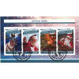 Bloc de 4 timbres Thème Noël