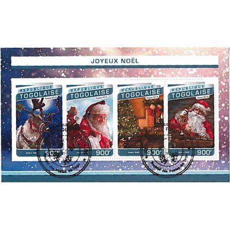 Bloc de 4 timbres Thème Chat