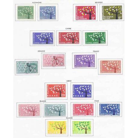 Nuevos sellos Europa 1962 en Año Completo