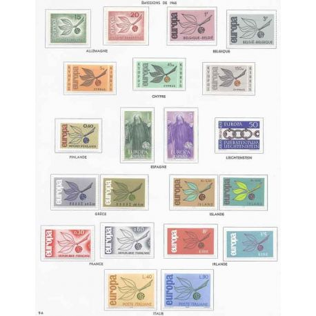 Neue Stempel Europa 1965 in vollständigem Jahr