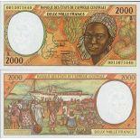 Billets collection Afrique Centrale Gabon Pk N° 403 - 2000 Francs