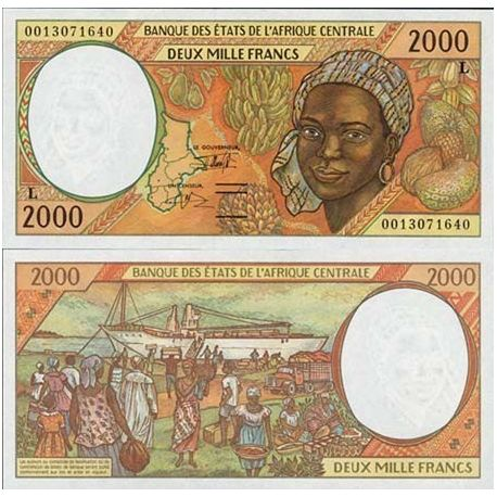 Central Africa Gabon - Pk # 403 - ticket 2000 Francs