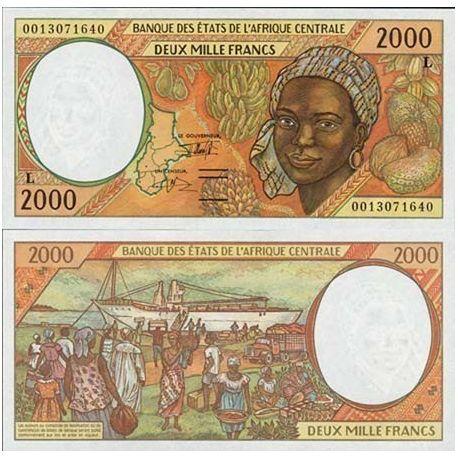 Billets de collection Billets collection Afrique Centrale Gabon Pk N° 403 - 2000 Francs Billets du Gabon 23,00 €