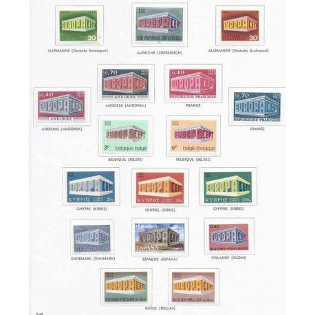 Nuevos sellos Europa 1969 en Año Completo