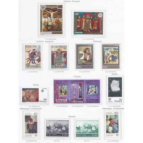 Francobolli nuovi Europa 1975 in anno completo