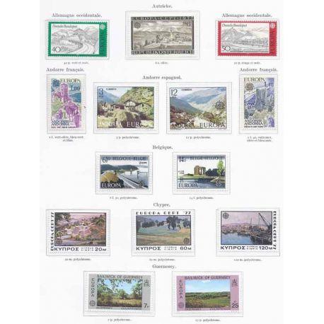 Francobolli nuovi Europa 1977 in anno completo