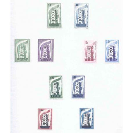 Europa Collection de timbres de 1956 à 1978