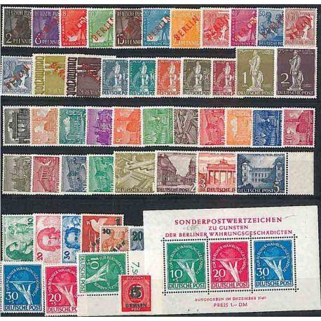 Berlin 1949 Jahr vervollständigt in neuen Stempeln