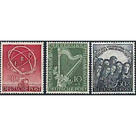 Berlin 1950 Year supplements in new stamps