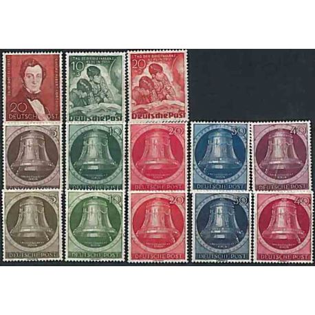 Berlin 1951 Year supplements in new stamps