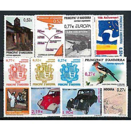 Sellos Andorra Española 2004 en Año completo
