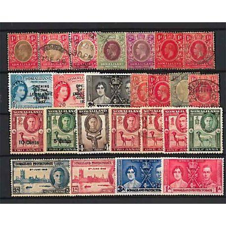 Collezione di francobolli Somaliland usati