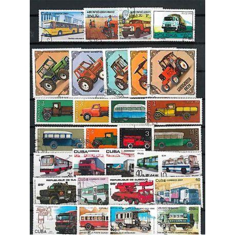 Collezione di francobolli automobili utilitarie cancellati
