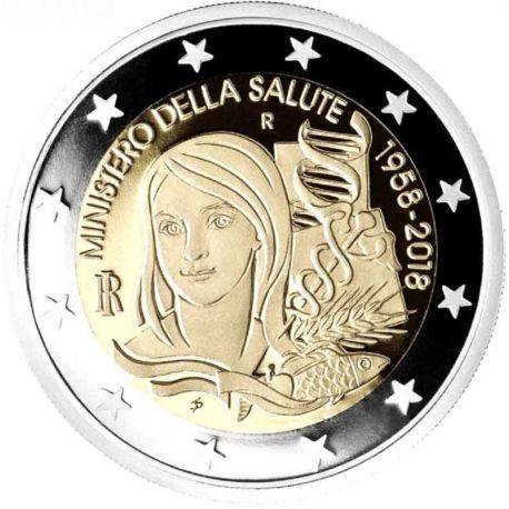 Italia 2018 - 2 euro Ministerio de sanidad