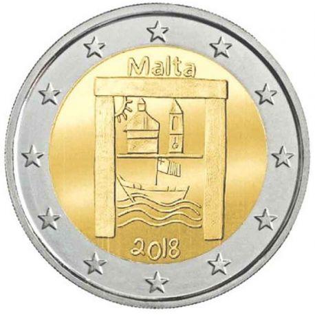 Malta 2018 - moneta 2 euro commemorativa Patrimonio culturale