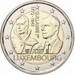 Luxembourg 2018 - Pièce 2 Euro Décè de Guillaume I
