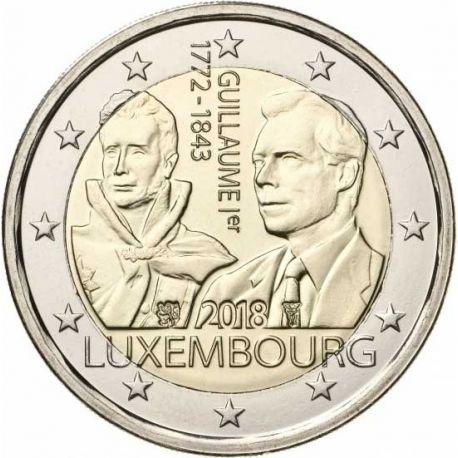 Lussemburgo 2018 - moneta 2 euro commemorativa Morte di Guglielmo I