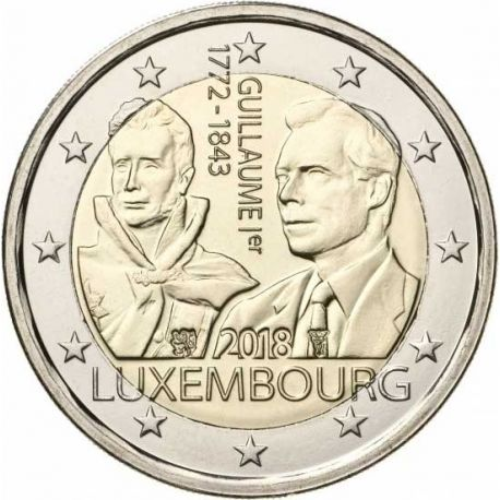Luxemburgo 2018 - Moneda 2 Euro conmemorativa Muerte de William I