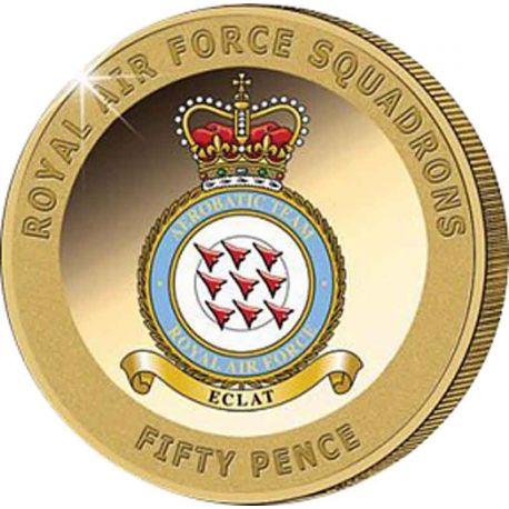 JERSEY - Moneta da cinque libbre del Centenario della RAF