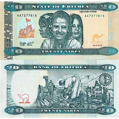 Collezione di banconote L'Eritrea Pick numero 12 - 20 Nakfa