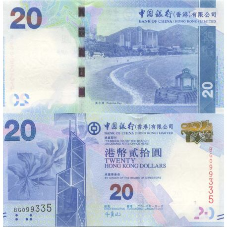 Billet de banque collection Hong Kong - PK N° 291 - 20 Dollars