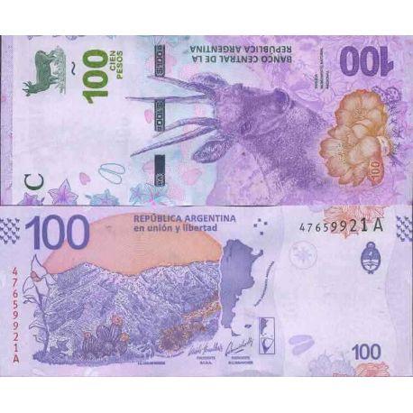 Colección de billetes Argentina - PK N ° 999 - 100 Peso