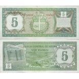 Colección de billetes Aruba - PK N ° 1 - 5 Florin
