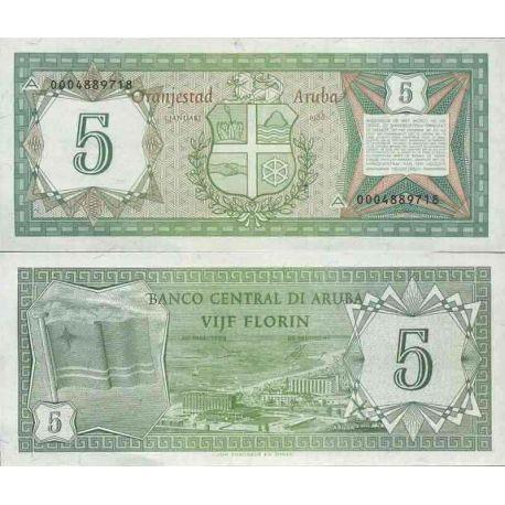 Billet de banque collection Aruba - PK N° 1 - 5 Florin
