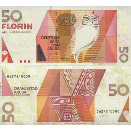 Colección de billetes Aruba - PK N ° 18 - 50 Florin