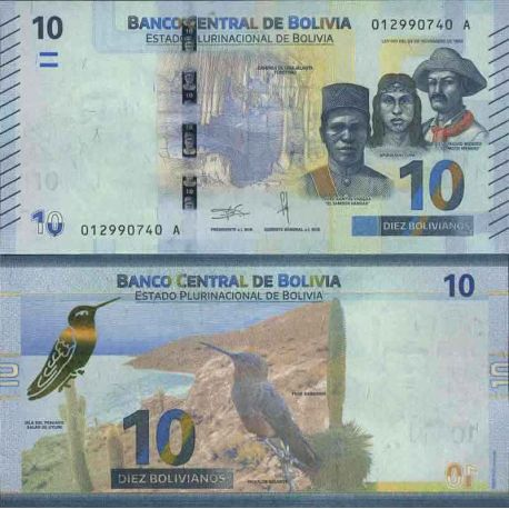 Billet de banque collection Bolivie - PK N° 999 - 10 Boliviano