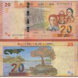 Banknotensammlung Bolivien - PK N ° 999 - 20 Boliviano