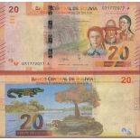 Billet de banque collection Bolivie - PK N° 999 - 20 Boliviano