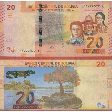 Colección de billetes Bolivia - PK N ° 999 - 20 Boliviano