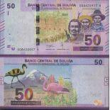 Colección de billetes Bolivia - PK N ° 999 - 50 Boliviano