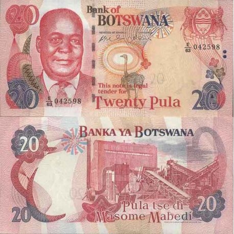 Billet de banque collection Botswana - PK N° 27 - 20 Pula