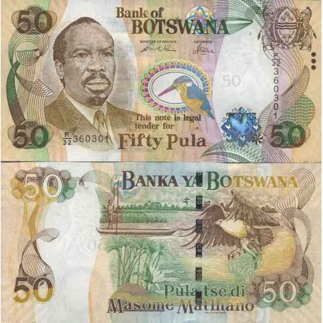Banknotensammlung Botswana - PK N ° 28 - 50 Pula