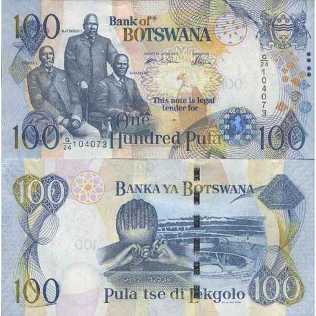 Banknotensammlung Botswana - PK N ° 29 - 100 Pula